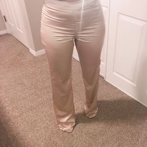 Pants - JLUXLABEL satin trousers in champagne